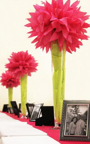 Baker - Blossom Centerpeices