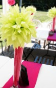 Baker - Green Blossom Centerpeices