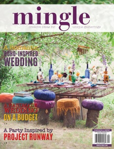 Retro Fun Wedding published in Mingle Magazine Winter 2014 Issue